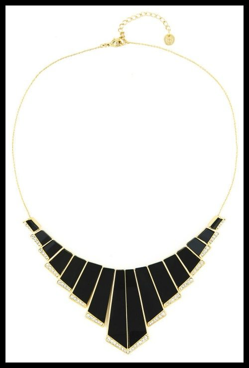House of Harlow gold plated Nouveau necklace.