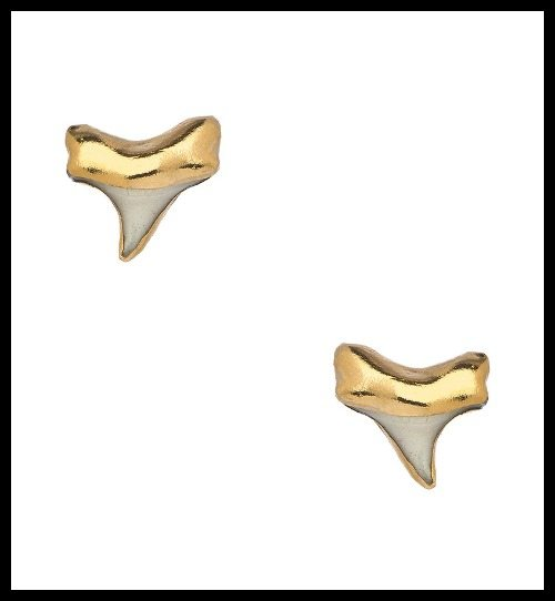 Janna Conner Tiny Shark Stud earrings.