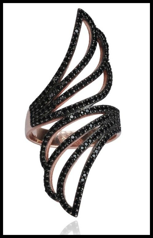 Susan Hanover Cutout Ring in sterling silver.