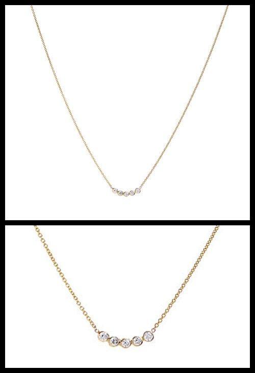 Zoe Chicco diamond bubble necklace.