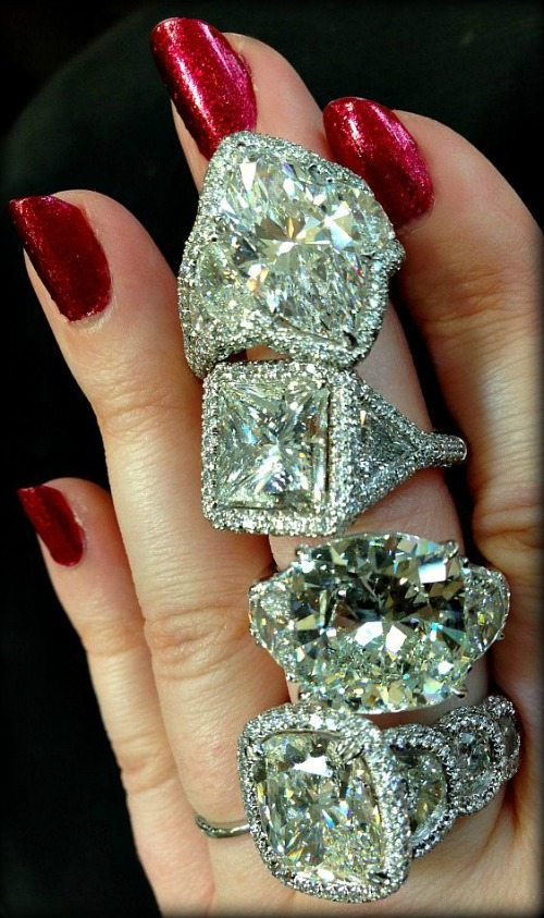 Diamond engagement rings by JB Star. Via Diamonds in the Library.