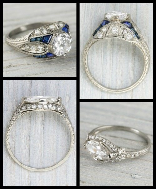 Two exceptional 1920s engagement rings.