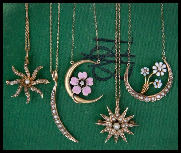 Antique necklaces from Trademark Antiques