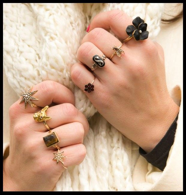 Beautiful antique rings from Trademark Antiques