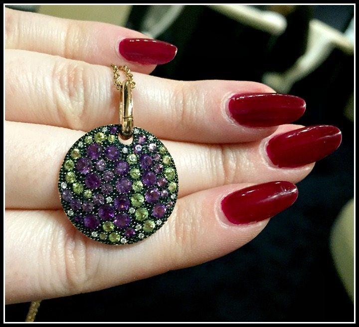 Beautiful multicolor gemstone pendant by Mattioli