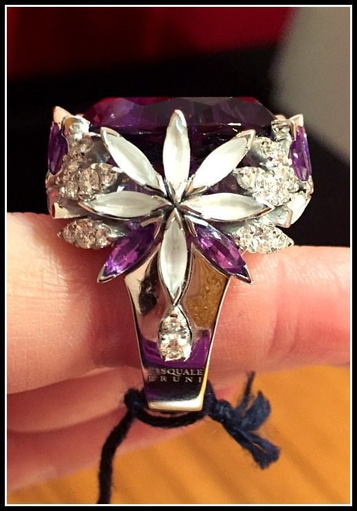 Pasquale Bruni amethyst and diamond cocktail ring