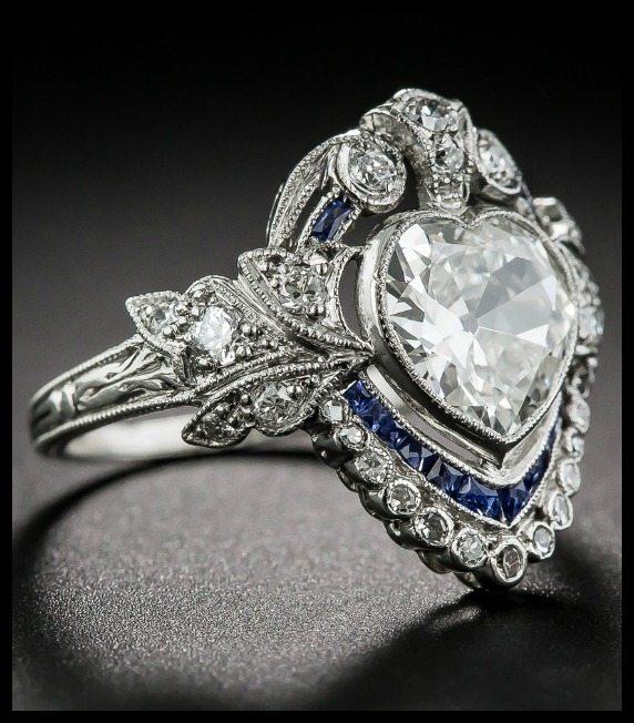 Edwardian Wedding Rings 37 Ideal Shoulder view of Edwardian