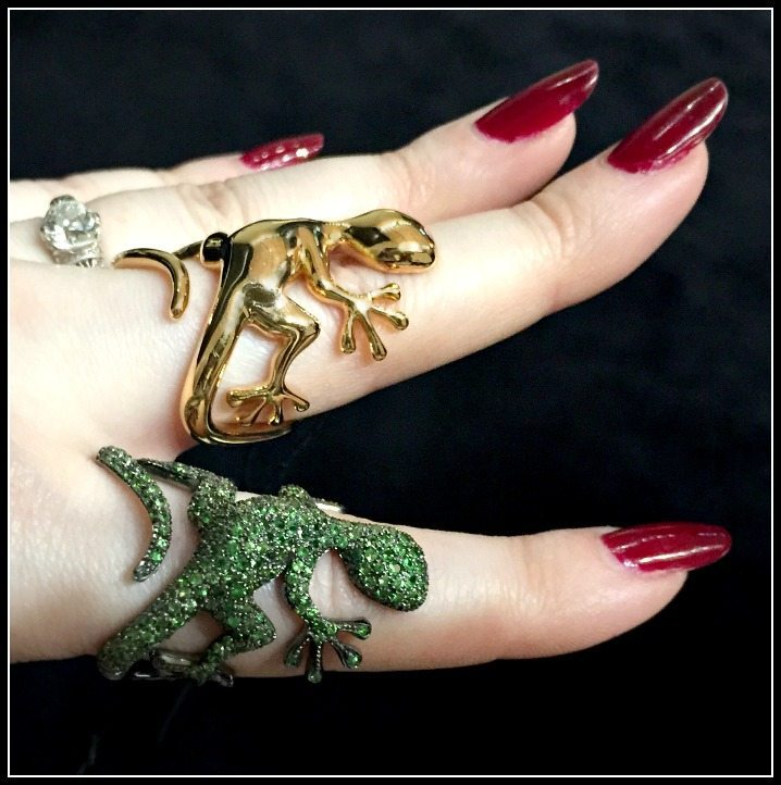 Two lizard rings from Mattioli; at VicenzaOro