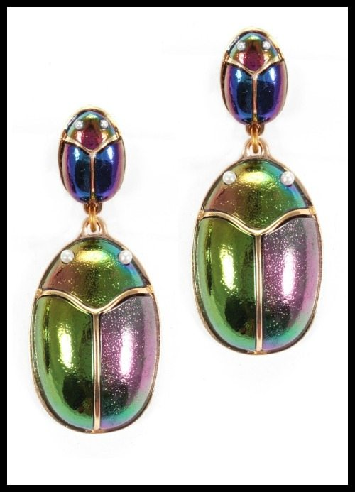 Lulu Frost Scarab Pair earrings.