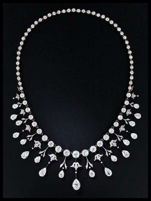 35 carat antique Edwardian diamond necklace at Lang Antiques