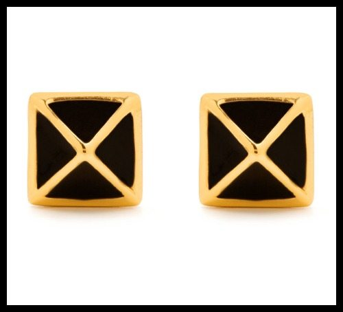 Gorjana Lula Pyramid stud earrings