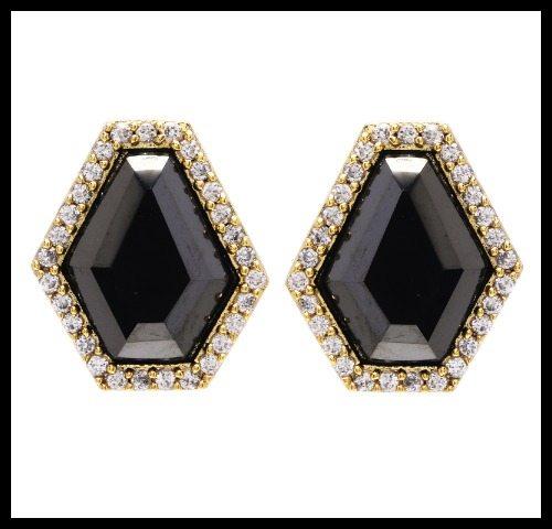 Marcia Moran Pyrite stud earrings