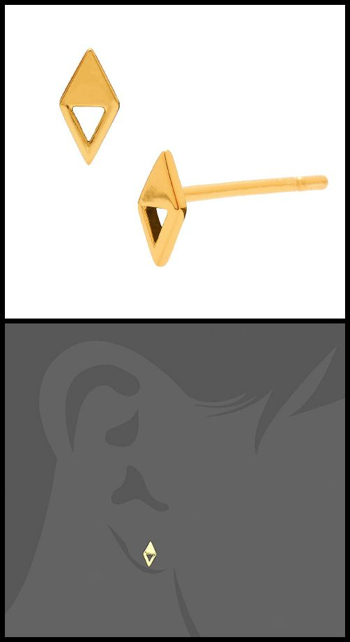 Gorjana Mika Mika Opposition stud earrings; gold-plated and such a cool shape!