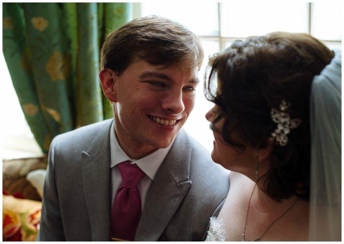 Enjoying a quiet prewedding moment. Photo by Angel Kidwell.