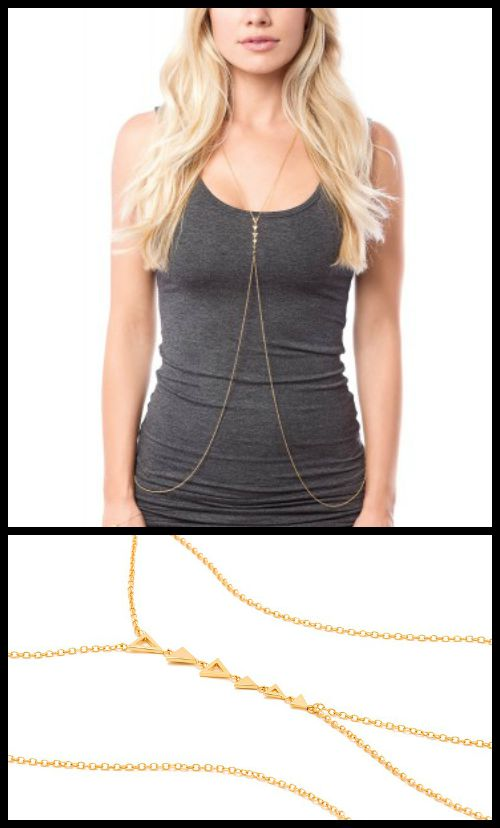 Gorjana Mika body chain necklace. A fun, daring piece perfect for summer.