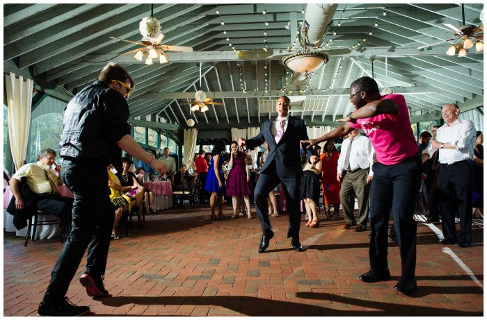 It's not a wedding if there are no dance battles at all. Photography by Angel Kidwell.