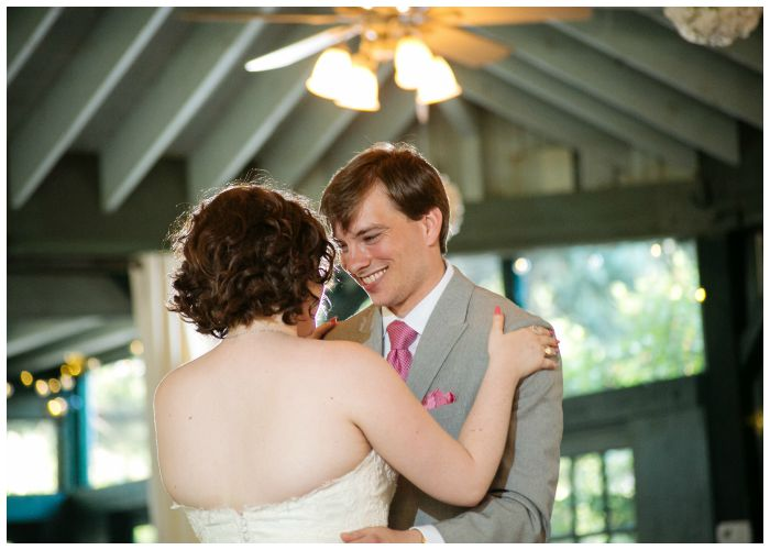 Our first dance, in the Vandiver Inn's reception pavilion. Photos by Angel Kidwell.