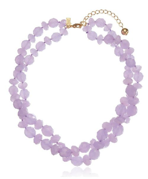 "Kate Spade New York ""Give It A Swirl"" twisted bead necklace in lilac. For when you want to throw on a pop of color."