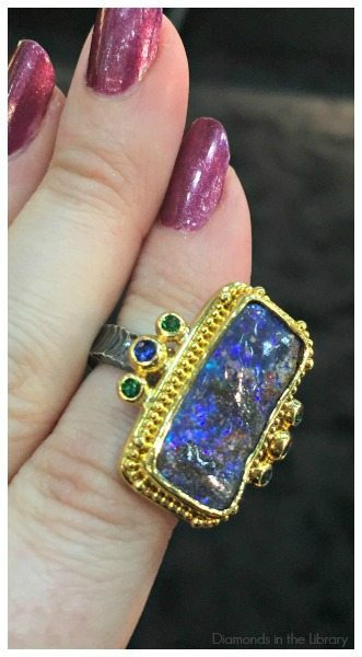A glorious boulder opal ring by Zaffiro Jewelry