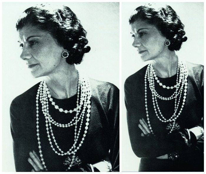 Coco Chanel loved to mix priceless real jewels with costume jewelry. She even had a strand of pearls that had belonged to the Romonov family; she often layered them with her costume jewelry.