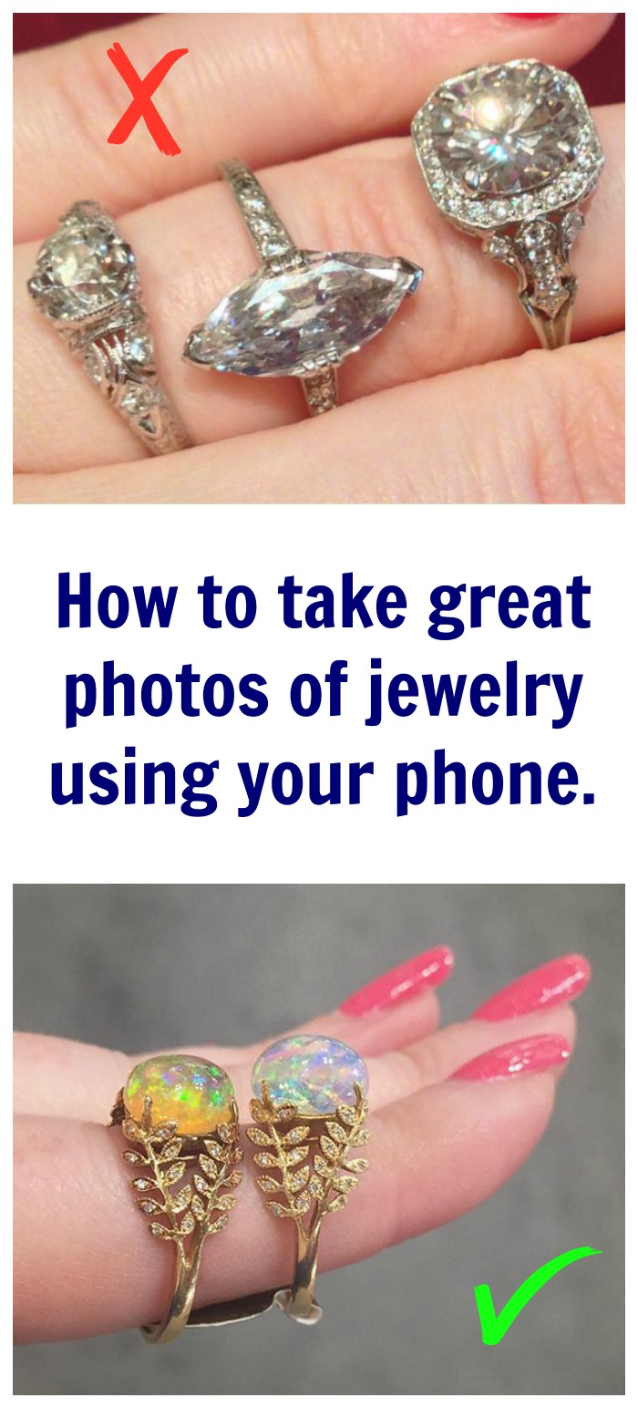 How to take great jewelry photos with your phone - improve your phone photo skills with these 5 simple tips.