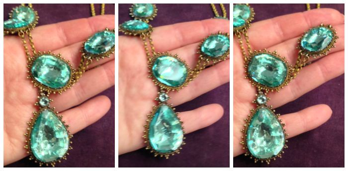 Photos of a necklace from Bell and Bird that I've never shown you, because I didn't get a single photo that met my standards.