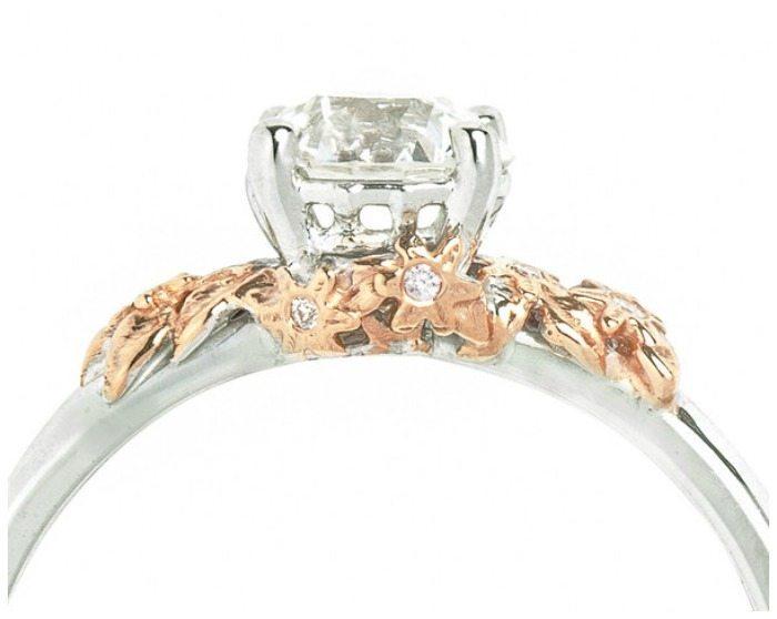The Secret Garden ring - a custom engagement ring by Salt + Stone
