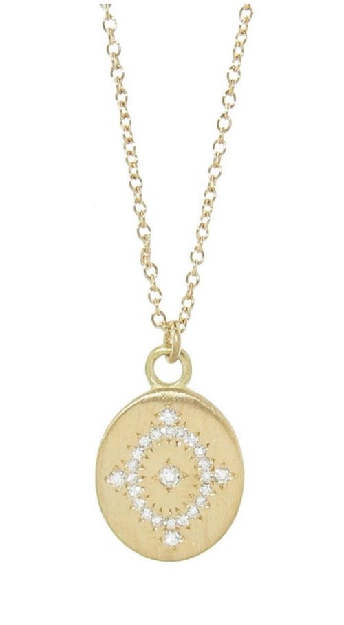 Adel Chefridi daydream pendant necklace with diamonds in gold.