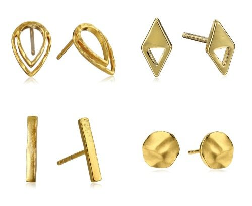 Gold plated stud earrings from Gorjana