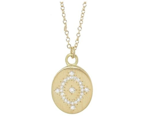 The Adel Chefridi daydream pendant necklace with diamonds in gold.