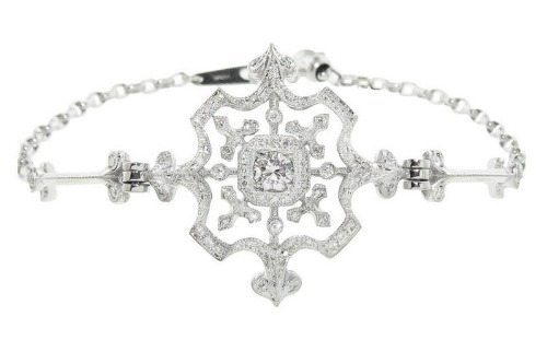 The Kataoka snowflake bracelet in diamonds.