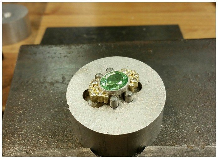 Part of a Todd Reed tourmaline and diamond necklace
