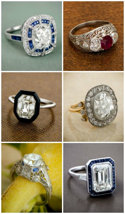 Your favorite posts of 2015 - 10 reasons to choose and antique engagement ring.