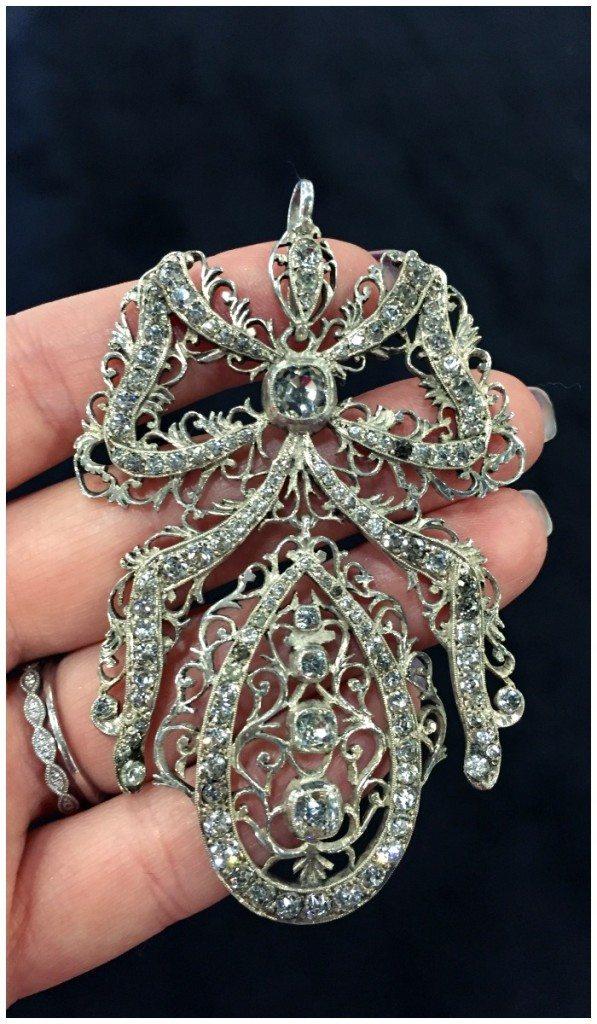 A glorious antique Victorian diamond pendant from Prather Beeland.