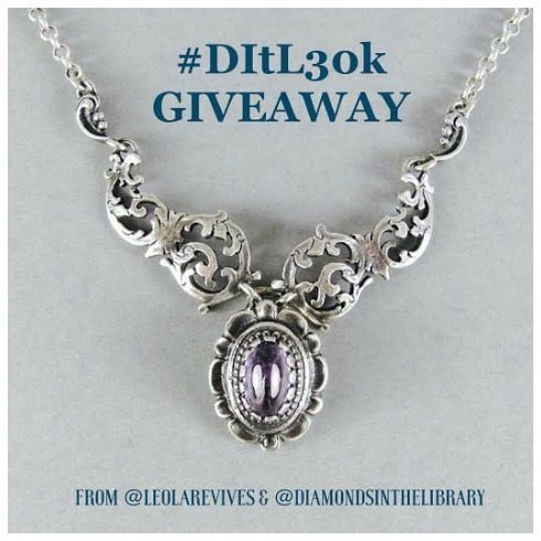 This stunning antique amethyst necklace could be YOURS if you enter my Instagram giveaway.