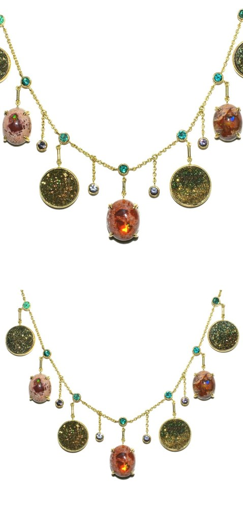 An extraordinary gold and gemstone necklace by Unhada jewelry.