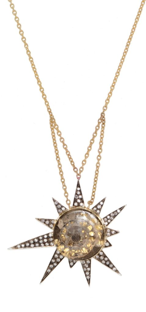 The incredible Star Machine necklace by Unhada jewelry in gemstone and diamonds