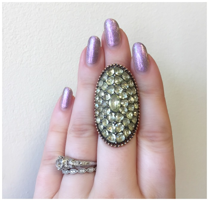A magnificent Georgian chrysoberyl ring. At A Brandt and Son.