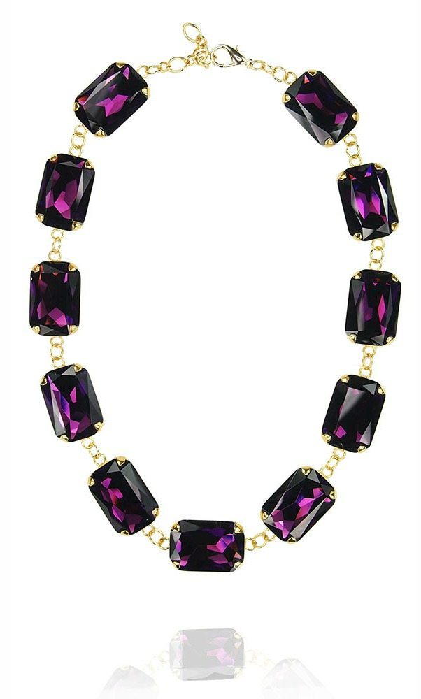 The JY Jewels Constellation necklace in purple crystal.