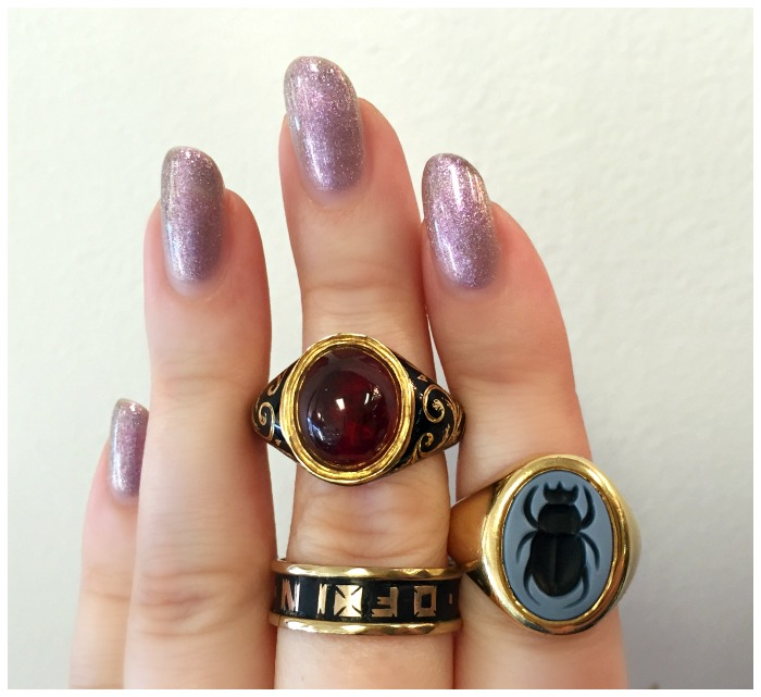 Three Victorian era rings from A Brandt and Son.