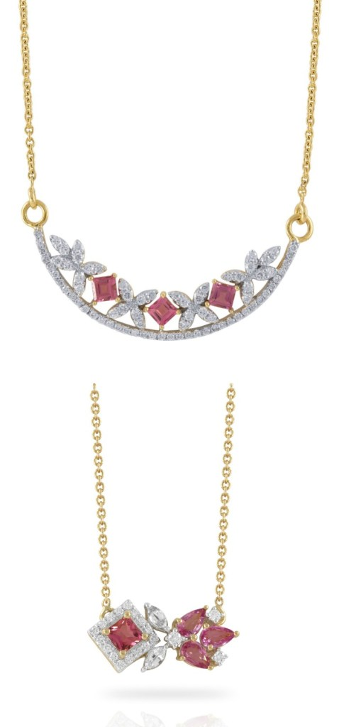 Two beautiful gemstone and diamond necklaces from Ayva jewelry