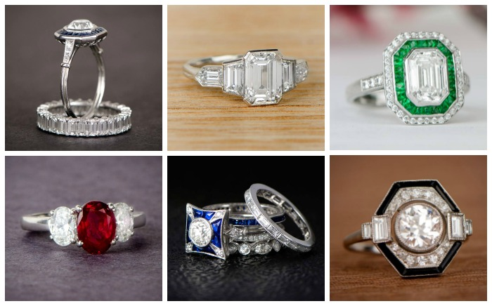 Fabulous antique and vintage engagement rings from M. Khordipour's sister business, Estate Diamond Jewelry.