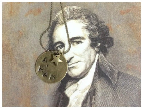 Hamilton jewelry - An A. Ham necklace is the perfect accessory for jewelry-loving Hamilton fans!