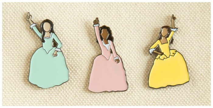 Hamilton jewelry - Bring the Schuyler sisters with you everywhere you go with these enamel pins. Work!