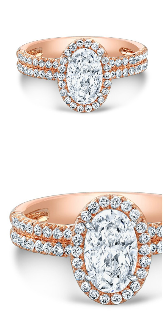 Forevermark by Rahaminov oval diamond ring in rose gold