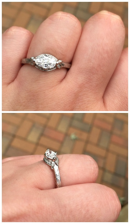 Reader Bella had her very own engagement ring custom designed after she found inspiration in an Art Deco era ring featured on Diamonds in the Library.