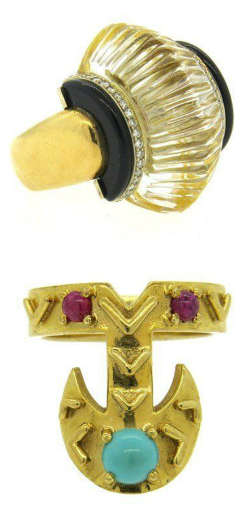 Two fabulous estate rings from Oakgem.