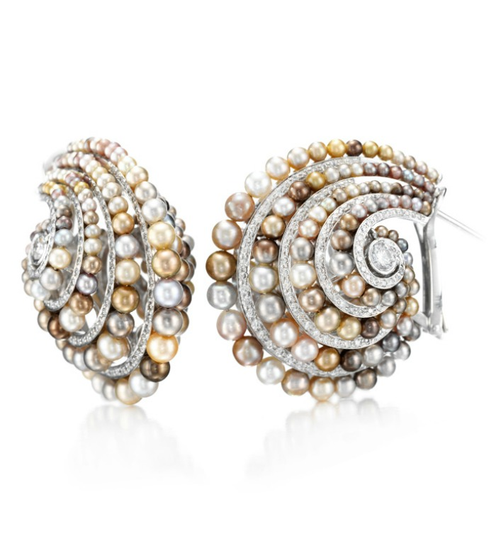 fancy diamond white gh color and gold crushed pave clarity s i women g h crush earrings