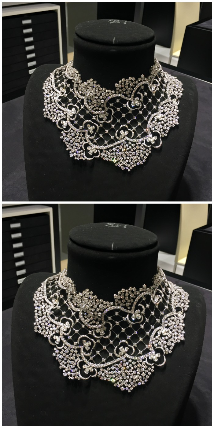 An incredible diamond necklace by Stefan Hafner.