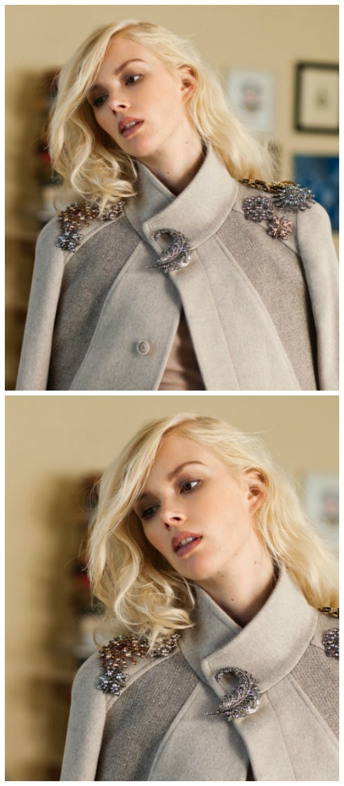 A fun way to wear a brooch - or a few brooches! Style them together for a bolder overall look.